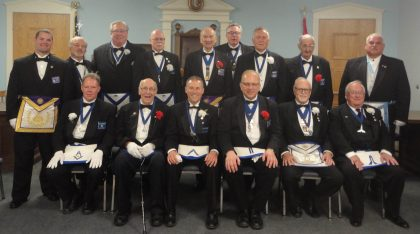 Charles W Cushman Lodge No. 879 Installation of Officers  2016